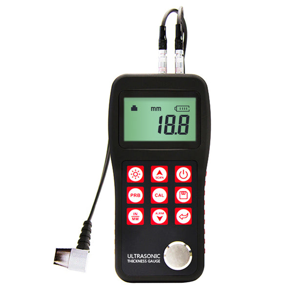 MT150 Portable Digital Ultrasonic Thickness Gauge 0.75 ~ 300mm 4.5 digits LCD display with EL backlight Auto Power Off 0.1mm Resolution
