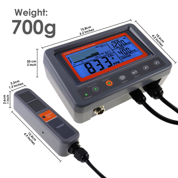 7530 Digital CO2 Carbon Dioxide IAQ Monitor Controller with Relay Function