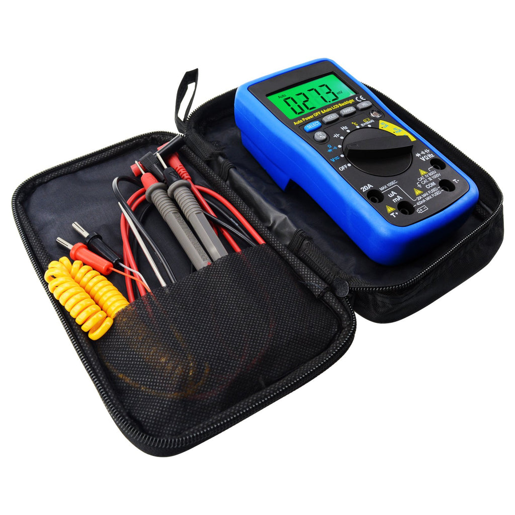 Autorange Multimeter Dc Ac Freq Capacitance Temp Battery Tester K Automotive Electrical Terminals Wiring Connectors For Car Backlites Mul 210 Digital Auto Range Autoranging Dmm With Lcd Backlight Overload
