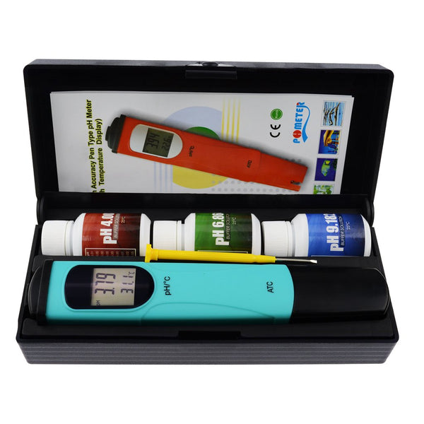 PH-0093 Digital Pen-type pH Meter Tester Thermometer Temperature 0.00-14.00 pH range