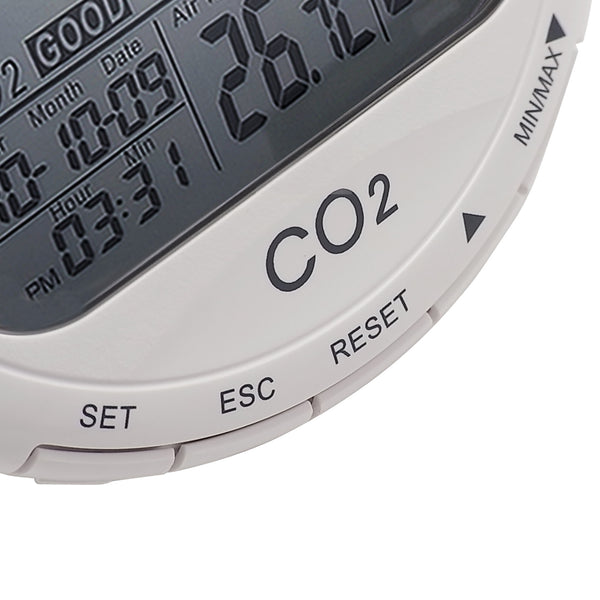 CO98 CO2 Data Logger Temperature Humidity Monitor 9999ppm