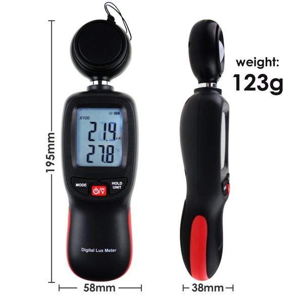 Lux-274 Light Meter Digital Illuminance Luminometer Up To 200 000 Lux Luxmeter Foot Candle/lux
