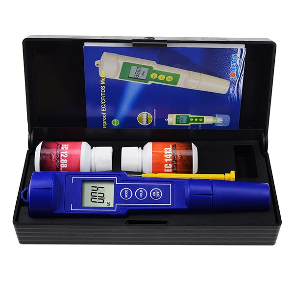 EC-1385 Digital 3-in-1 EC / CF / TDS Meter Combo Water Quality Tester IP65 Waterproof Conductivity with ATC