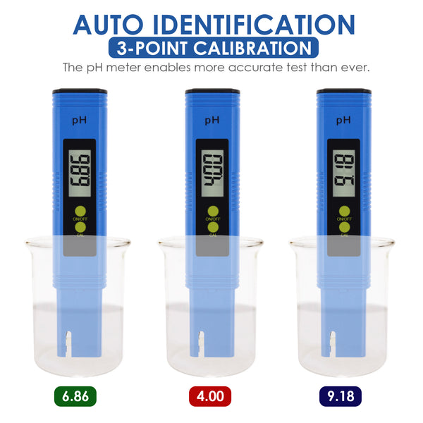 PHM-300 Digital Pen type pH Meter Water Quality Liquid Acidity Tester 0.01pH Accuracy for Laboratory, Household Water, Spa, Pool Aquarium