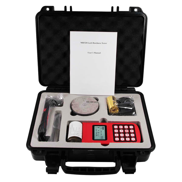 MH320 Portable Leeb Hardness Tester Meter Guage 170~960 HLD Dot Matrix LCD  with integrated high speed thermal printer and alarm function