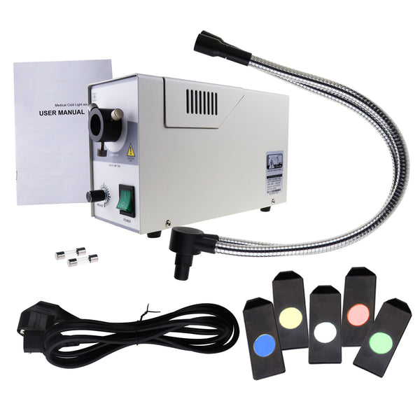 GX-301+ Gooseneck Fiber Optic Microscope Illuminator + Color Filters