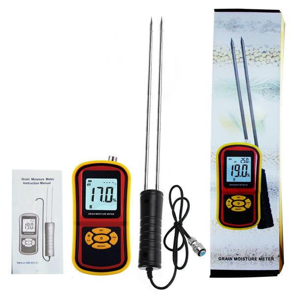 HTM-42 Portable Digital Grain Moisture Meter, High Quality Rice Corn Wheat Tester Analyzer- Range 5~30%