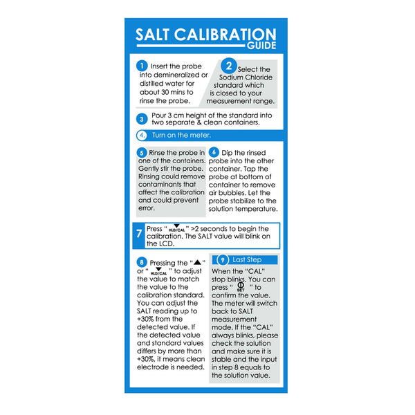 SOL-8371-NACL_2 20mL Salinity Meter NaCl 50 ppt Calibration Buffer Solution for Saltmeter