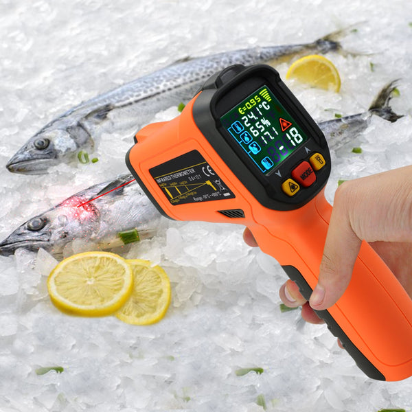 THE-223 Non-contact Infrared IR Laser Thermometer Gun w/  K-Type Thermocouple -50~800°C (-58~1472°F)