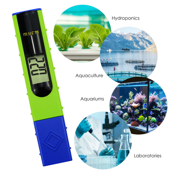 ECM-227 Digital LCD EC Conductivity Meter Tester 0~19.99ms/cm Pen Type with Backlight, Hydroponics, Aquaculture