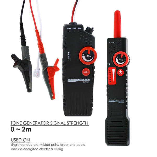 NF-820 Underground Cable Tracker Detector AC 220~400V High Low Voltage, Anti-jamming, Wire Locator