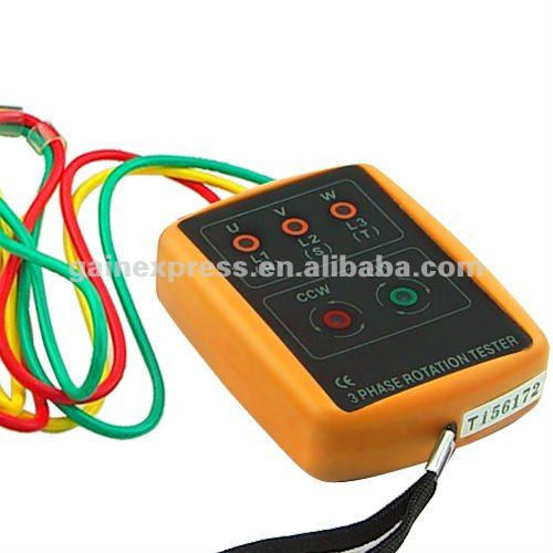 SM-852B 3 Phase Sequence Rotation Indicator Tester Checker