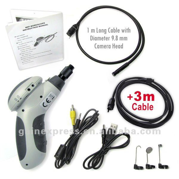 T013003WX_4M Wireless WiFi Endoscope Snake Scope Borescope Camera Android iPad 4M Cable