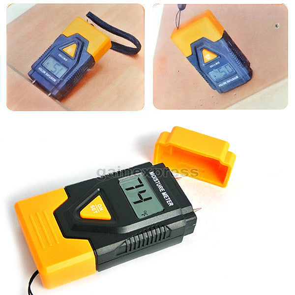DM1100 3-in-1 Digital 2 Pin Wood Building Hard Material Moisture Meter