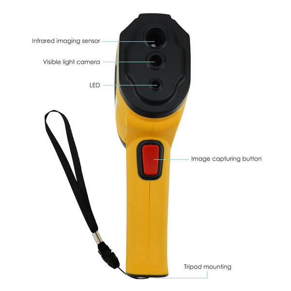 "THE-220 IR Infrared Thermal Imaging Camera Sensor Visual Imager Detector Visual Thermometer, Temperature -4~572°F (-20~300°C) IR Resolution 3600 (60x60) Pixels 2.4"" Color Screen 6Hz Refresh Rate"