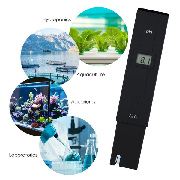 PH-014 Pocket Size 0.0-14.0 pH Meter, Digital Water Quality Tester for Household Drinking Water, Swimming Pools, Aquariums, Hydroponics