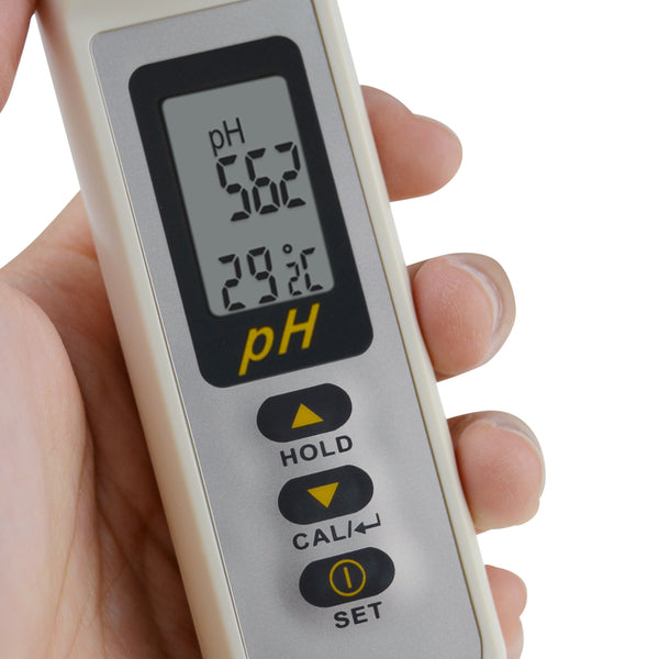 868-9 Waterproof Pen type pH 0-14pH Temperature Meter ATC Digital Tester, Thermometer, 1-Touch Multi-Calibration with Pouch, Auto Buffer Solution Recognition