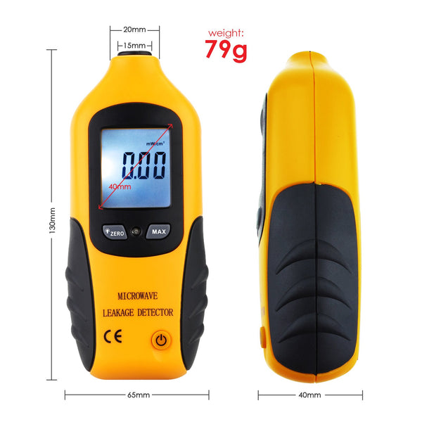 LKD-51 Microwave Oven Leakage Radiation Detector Tester with Backlight & Built-in Alarm 0-9.99mW/cm2, 2450MHz