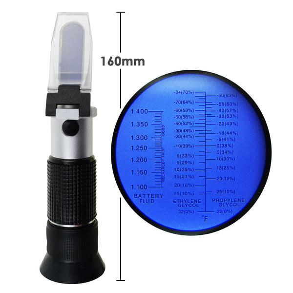 RHA-100ATC 3in1 Automotive Battery Antifreeze Refractometer Ethylene Propylene Glycol Battery Fluid