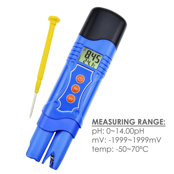 PHM-224_PH 3-in-1 ORP Redox PH Temperature Combo Meter Tester w/ EXTRA Electrode