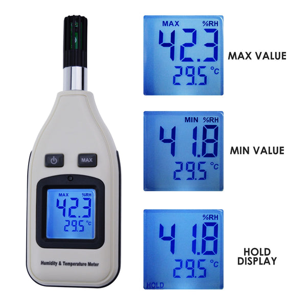 HTM-238 Handheld Digital Humidity & Temperature Meter 0~100% RH/ -30~70°C (-22~158°F) Moisture Thermo Hygrometer