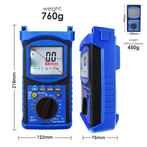 ENG-215 Digital Engine Analyzer Automotive Multimeter 6000 Counts Patented Product Design Tester