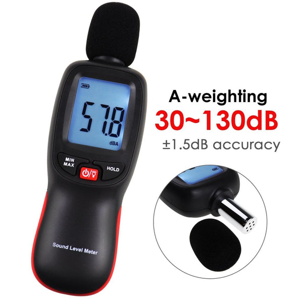 Slm-267 Decibel Meter Sound Level Tester 30~130Dba Noise Volume Measuring And Monitoring Instrument