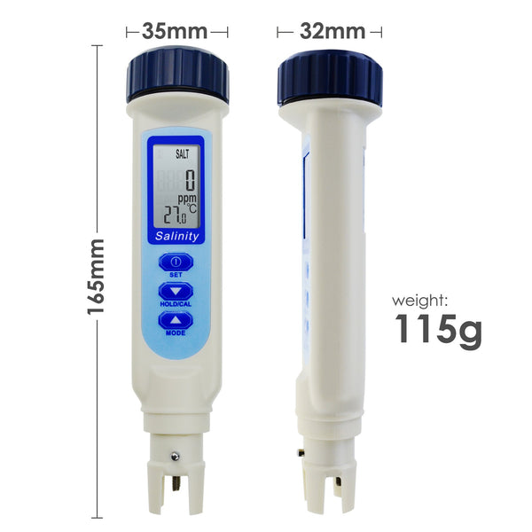 837-2_SOL Pen Type Salinity & Temperature Meter ATC w/ Calibration Solution Set ppm / ppt / % / S.G. 4 Units