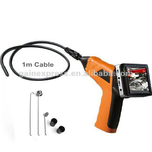 "8803AL_1M  3.5"" Wireless 4 LED Inspection Camera 9mm Endoscope DVR 1M Cable"