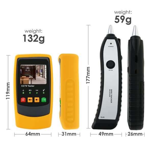 CAB-40 Cable Wire CCTV Security Camera Tester Tracker Scanner