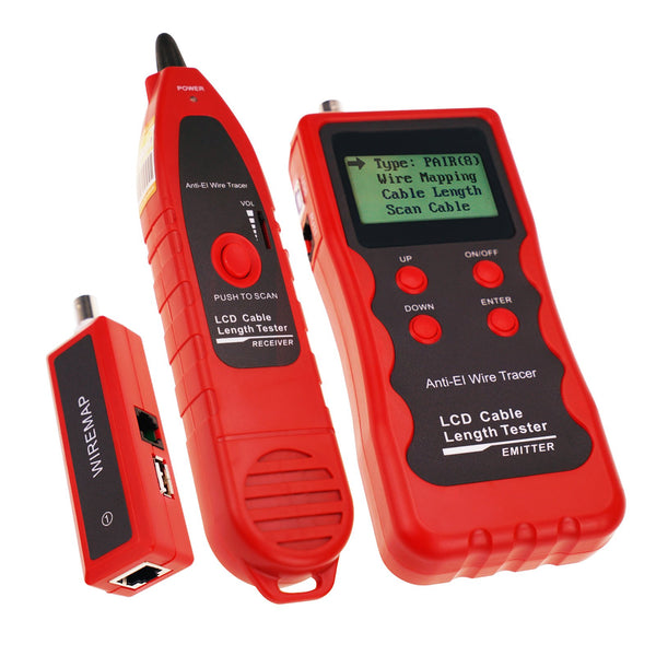 NF-868W Digital Cable Tester Tracker with 8 Remote Adaptor Wiremap RJ45 RJ11 BNC USB Multifunction Network Ethernet LAN Telephone Wire Cable Length Tester