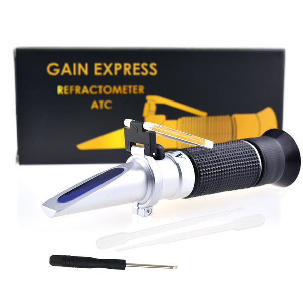 REBS-28ATC 2-in-1 Brix Salinity Refractometer Dual Scale 0-32% Brix & 0-28% Salinity with ATC Sodium Chloride in Food Salt Seawater Brine