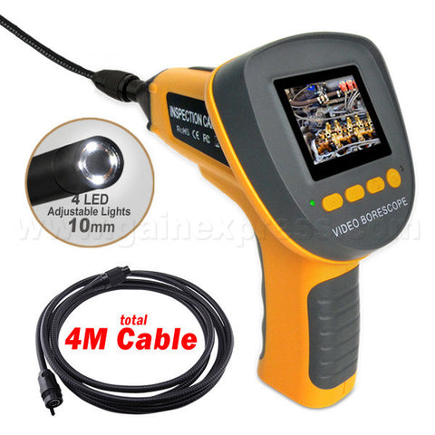 C0599F_4M Handheld 2.4  Industrial Endoscope up to 360°Rotation Borescope + 4m Cable