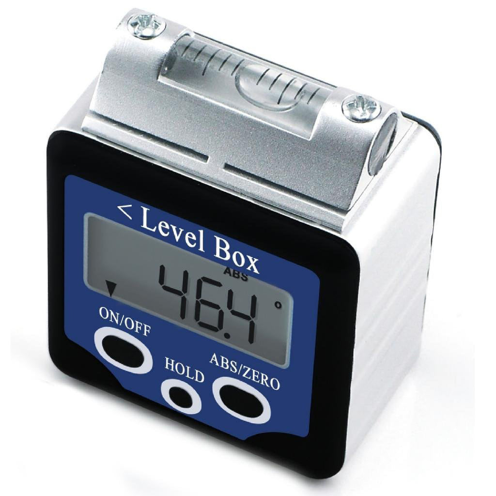 AG-02LB  Digital 360° Bevel Box / Inclinometer w/ Magnets & Spirit Level Angle Finder Large LCD Display