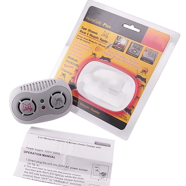 AR-166-110V Electronic Ultrasonic Mouse Mosquito Repeller 50/60Hz