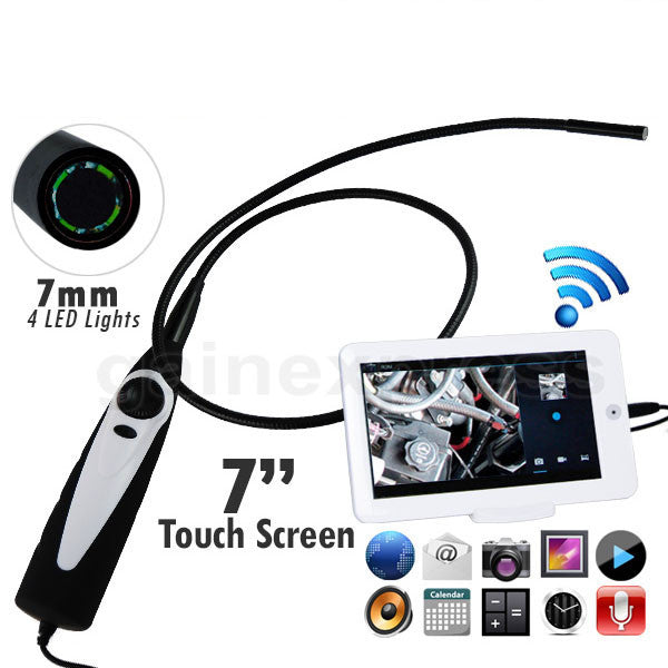 "C0598AM USB Handheld Endoscope 7mm Camera head Borescope w/ 7"" Android Monitor"