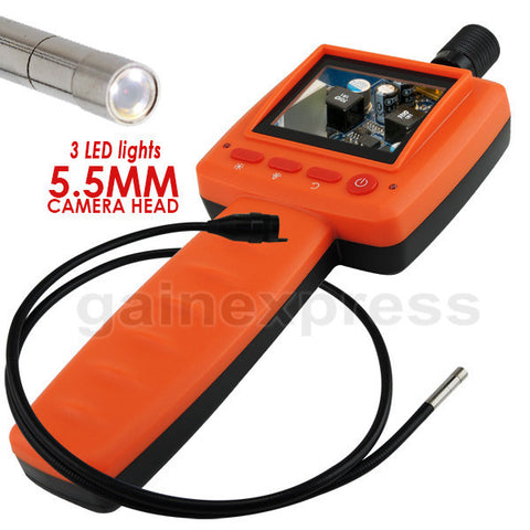 C0599D-5530L1 Handheld 2.4 inch Video Inspection 5.5mm Camera Endoscope 1M Cable 3 LED