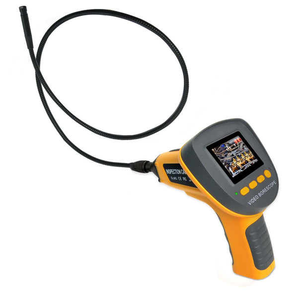 "C0599F_1M Handheld Industrial Endoscope w/ 2.4"" LCD & up to 360° Rotation Borescope"