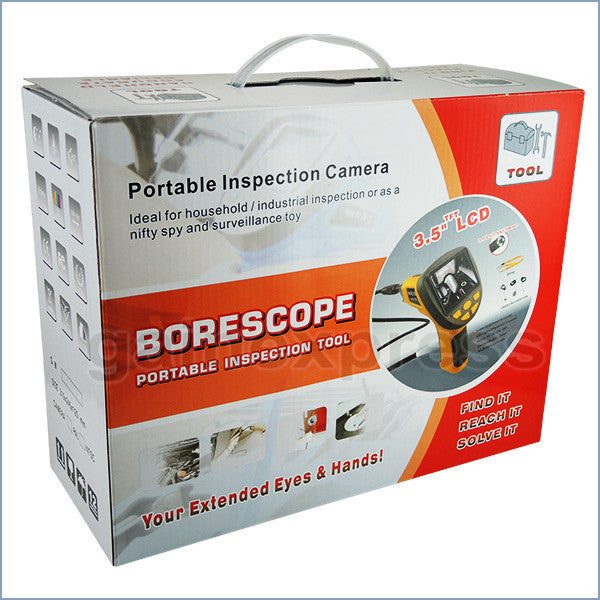 "C0599H-5530L1 Industrial Endoscope 3.5"" LCD Video Inspection 5.5mm Camera Borescope 1M Cable"