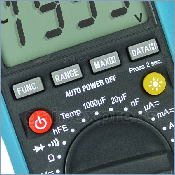 E04-012 Digital Multimeter DCV ACV OHM ACA Diode Temperature Tester