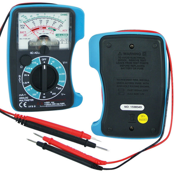 E04-018 Analog 5 scales Multimeter DC AC OHM Decibel Resistance
