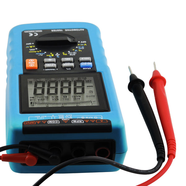 E04-024 Automotive Multimeter Scan Car Engine Analyzer RPM Voltage Current Dwell Angle