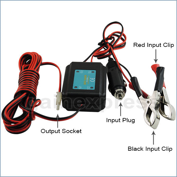 E04-029 Car Data Saver 12V DC Hold Memory Code Engine Maintenance Radio Station Clock Setting