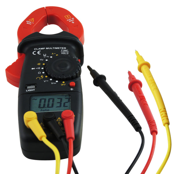 E04-033 Digital Clamp Meter Autorange Phase Sequence Test DC AC Voltage AC Current Diode