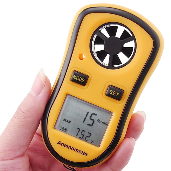 GM8908 Digital Pocket Anemometer Wind Speed Meter Thermometer