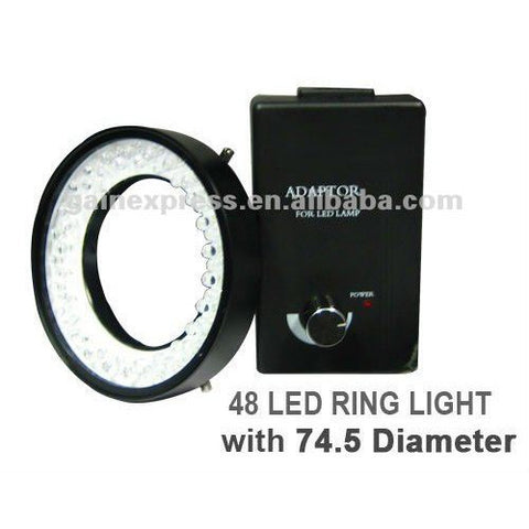 GX-380 48 LED Camera Microscope Ring Light (White Bulbs, 74mm max dia)