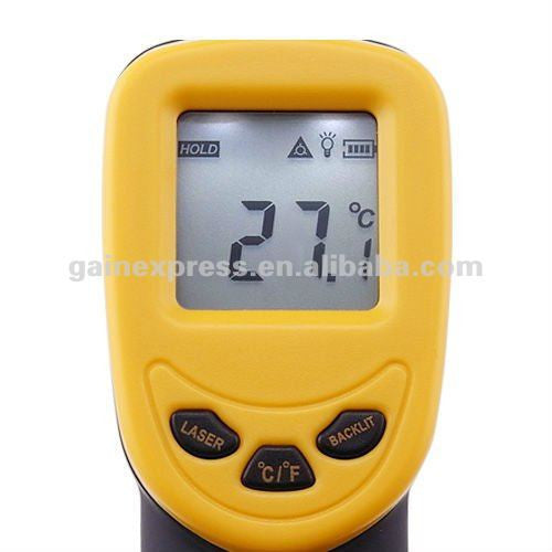 IR-350 Digital 12:1 DS Infrared IR Laser Non-Contact Digital Thermometer