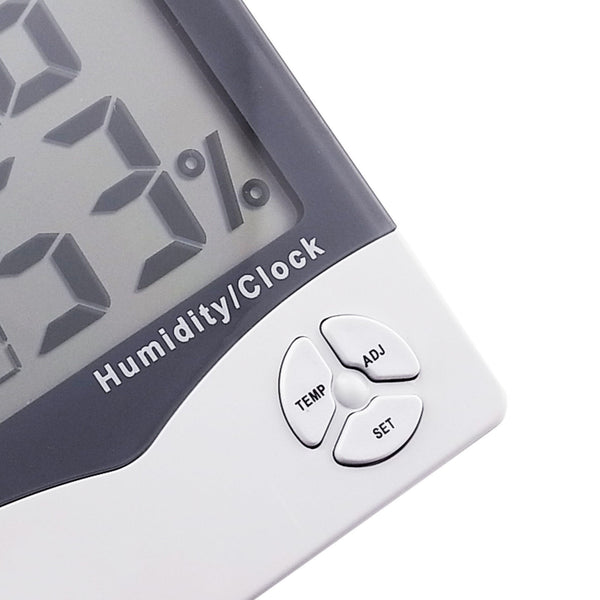 IR-807 Digital Hygrometer Temperature Humidity Meter LCD Clock