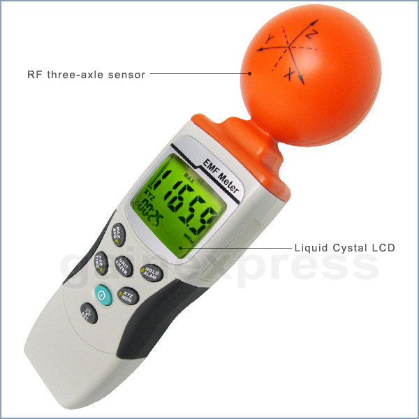 M0198195 Handheld EMF/RF (3-axis Gauss Meter) Field Strength Meter 50MHz to 3.50GHz