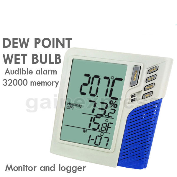 M0198585 Wallmount / Desktop Temperature Humidity RH Datalogger Monitor